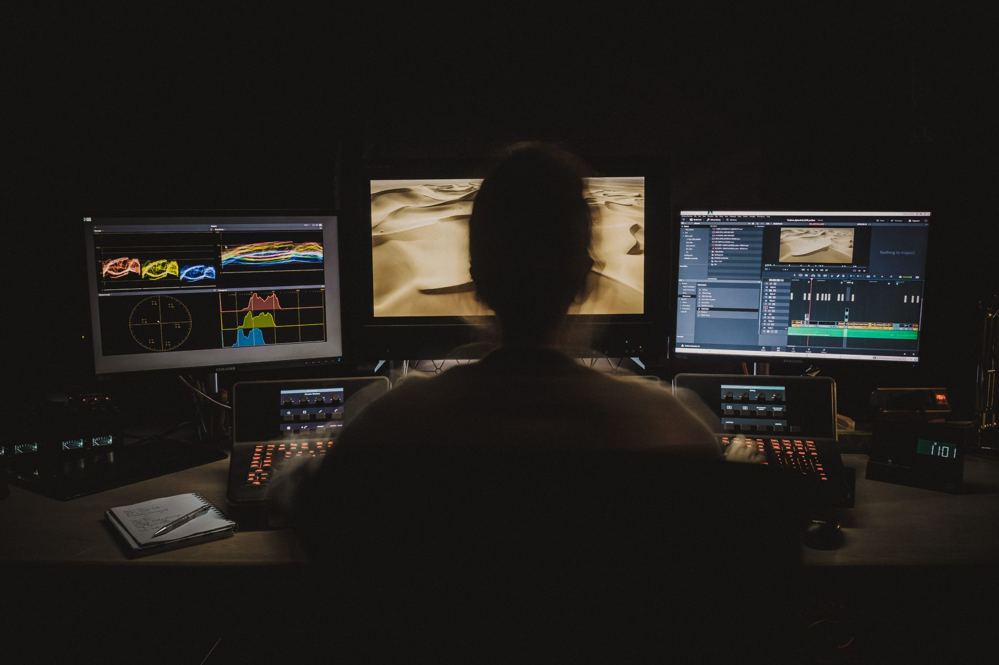 Gorilla Group Post production editing suite still